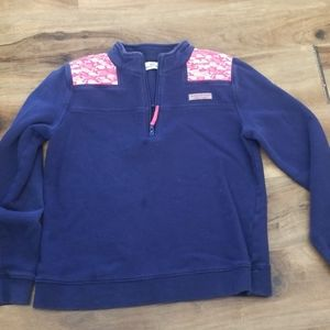 Vineyard vines pull over sweatshirt